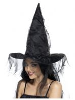 Witch Hat With Net (34953)